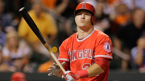 Trout homers in three straight