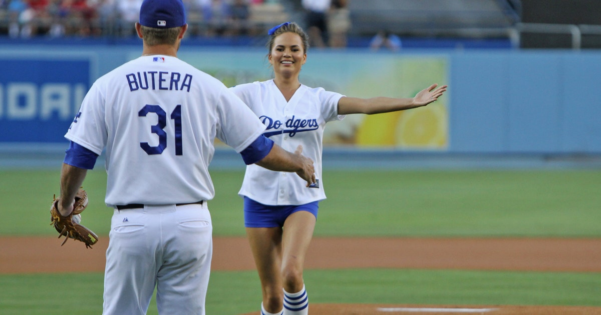 Drew Butera S First Pitch Experience With Chrissy Teigen