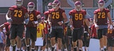 Growing pains apparent for young USC OL in loss to UCLA