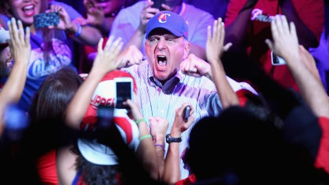 Owner Steve Ballmer has such passion for his Clippers