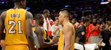 Lakers search for 'silver lining' in Randle injury
