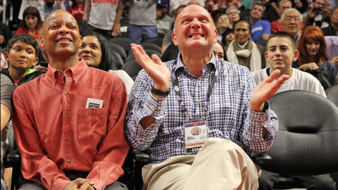 Steve Ballmer will be sitting in his courtside seat cheering on his Clippers