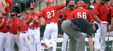 Mike Trout opens spring training with grand slam against Cubs