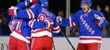 RECAP: Rangers break out of slump in 7-2 rout of Ducks