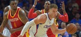 Dwight Howard shoves Blake Griffin to avoid dunk
