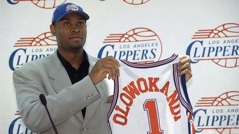Los Angeles Clippers: Michael Olowokandi over Dirk Nowitzki, Paul Pierce, Vince Carter (1998, Pick No. 1)
