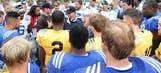 UCLA football testing helmets with sensors that measure hits to head
