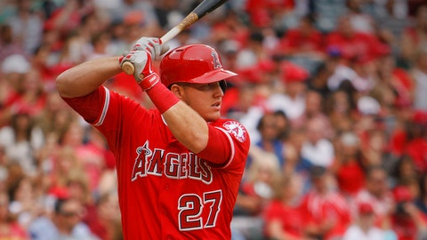 1. Mike Trout, OF, Los Angeles Angels (.312, 26 HR, 55 RBI, AL-leading .614 SLG)