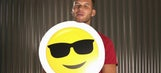 Clippers star Blake Griffin answers questions using emoji flashcards