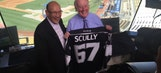 Bob Miller surprises Vin Scully with personalized LA Kings jersey