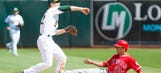 Athletics' rookie pitcher Jharel Cotton holds Angels in check in MLB debut