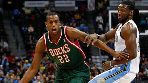 Khris Middleton. Stats: 12.1 PPG, 3.8 RPG, 2.1 APG, 1.0 SPG, 44.0 FG%, 86.1 FT%, 41.4 3PT% in 82 games