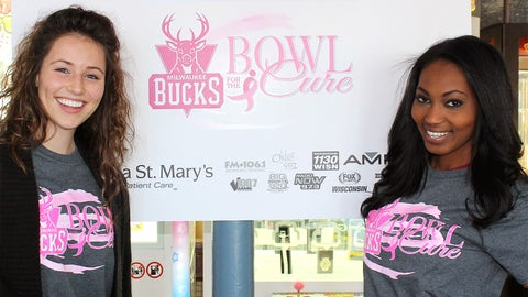Sage and Bishara are ready to strike down cancer at the Milwaukee Bucks' annual Bowl For The Cure.