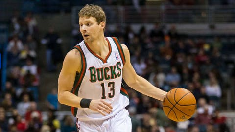 Luke Ridnour. Stats: 5.7 PPG, 1.7 RPG, 3.4 APG, 38.4 FG%, 68.4 FT%, 36.8 3PT% in 36 games with the Bucks