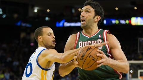 Zaza Pachulia. Stats: 7.7 PPG, 6.3 RPG, 2.6 APG, 42.7 FG%, 84.6 FT% in 53 games