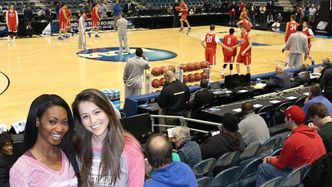Bishara & Sage got a chance to scope out the Badgers competition while watching American practice at the BMO Harris Bradley Center.