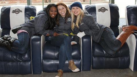 The FOX Sports Wisconsin Girls found some of the comfiest seats in the ballpark to kick off the 2014 Brewers season.