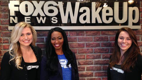 The FOX Sports Wisconsin Girls started their Opening Day 2014 with a visit to the FOX 6 studios.