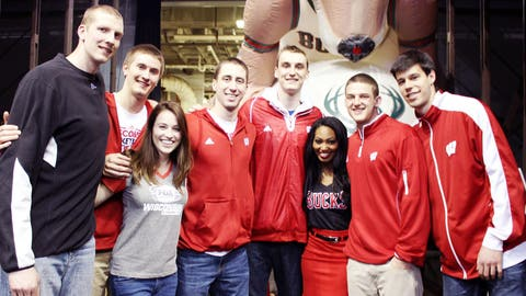 The BMO Harris Bradley Center was where the University of Wisconsin men's basketball trip to the Final Four started. Bishara and Sage got a chance to congratulate them on their successful tournament run.