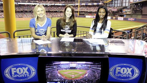 The FOX Sports Wisconsin Girls stopped by the set to take in the game.