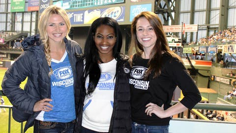 Temps in Wisconsin may be chilly but the Brewers are red hot! Chyna, Bishara & Sage are happy to be at Miller Park cheering on their team.