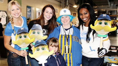 Chyna, Sage & Bishara found some of the best dressed fans in the ballpark.