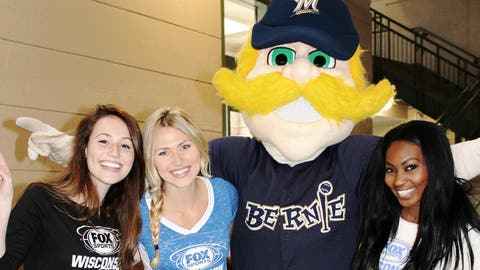 No trip to Miller Park is complete without a photo op with Bernie Brewer.