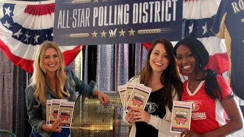 Vote early, vote often & be sure to vote Brewers!* *The FOX Sports Wisconsin Girls approve this message.