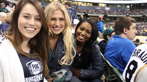 The FOX Sports Wisconsin Girls take in the Brewers game at Miller Park.