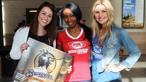 The FOX Sports Wisconsin Girls help fans stay up to date on the Brewers games with these posters.