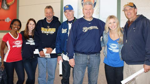 These fans are ready to cheer on the Brewers as they face the Diamondbacks.