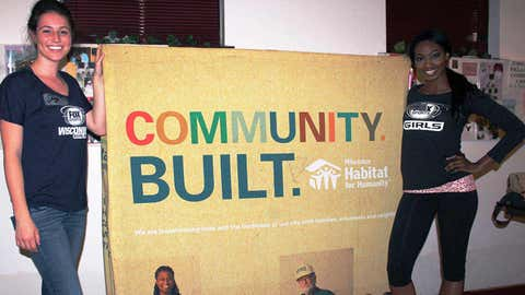 Sage & Bishara are ready to help out at Habitat for Humanity's May Blitz Week in Milwaukee.