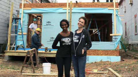 There's still a lot of work to be done, but Bishara & Sage were happy to help volunteer with Habitat for Humanity.
