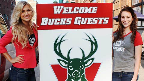 The FOX Sports Wisconsin Girls joined Bucks fans for the Draft Lottery Viewing Party at Evolution in downtown Milwaukee.