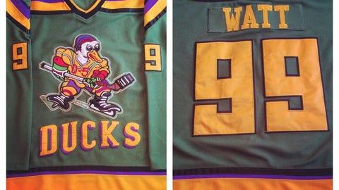 J.J. Watt, DE, former Wisconsin Badger