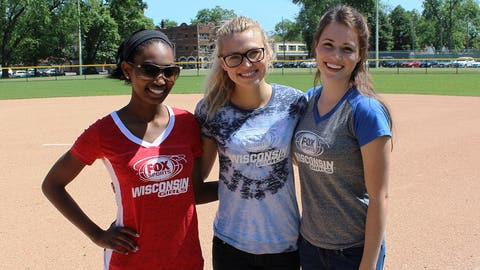 The FOX Sports Wisconsin Girls check out the new field -- one of only five in Greater Milwaukee that can accommodate multiple types of play.