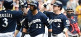 Brewers beat up on Strasburg, knock off Nats 9-2