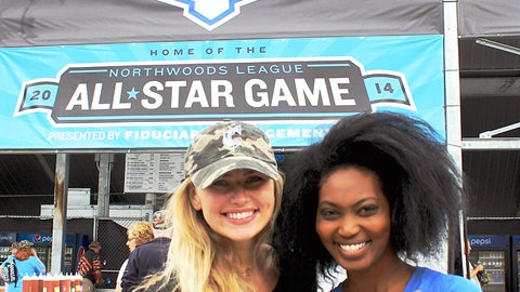 Chyna and Bishara visited Kapco Park in Mequon, Wis. – home of the Lakeshore Chinooks and host of the 2014 Northwoods League All-Star game.