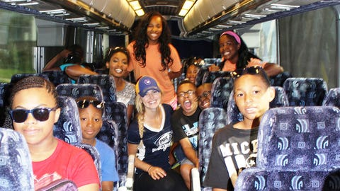 The club members from the LaVarnway Club and the FOX Sports Wisconsin Girls are excited to get to Camp Whitcomb Mason in Hartford, Wis.
