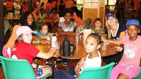 After a busy morning these campers (and the FOX Sports Wisconsin Girls) are ready for lunch!