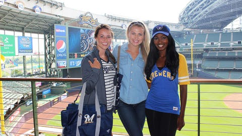 Sage, Chyna and Bishara are ready to rock their Brewers gear in the inaugural Brewed For Her Fashion Show.
