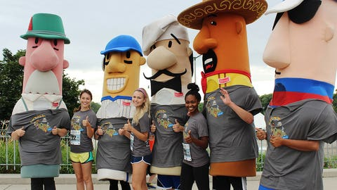 Sage, Bishara, Chyna and the racing sausages are all ready to hit the pavement! Who do you think will win this race?