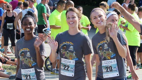 And they're off! The FOX Sports Wisconsin Girls are ready to tackle their next run – the Brewers Mini Marathon on Sept. 20th.