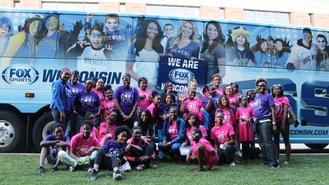 The Year of the G.I.R.L. ambassadors arrived in style for the Women In Sports panel and Brewers vs. Giants game.