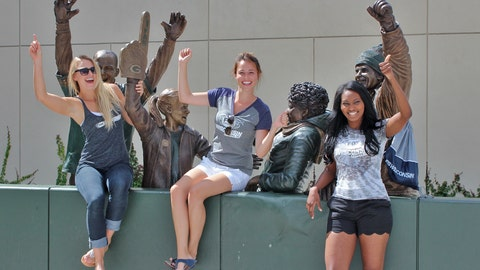 Chyna, Sage and Bishara hope to see lots of Lambeau Leaps this season from the Pack.