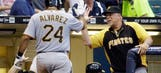 Alvarez homers twice, Pirates top Brewers to pull within 4 games