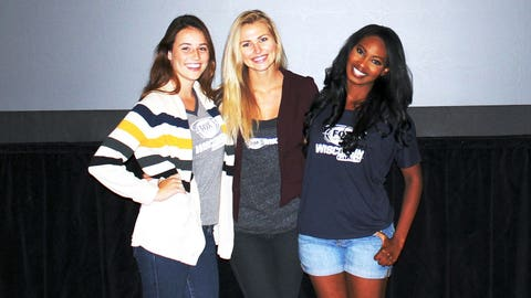 """After taking 2nd place in the FOX Sports Girls Fantasy Football League last year, Bishara, Chyna & Sage joined """"Milwaukee's Largest Fantasy Football Draft Party"""" at Potawatomi Hotel & Casino."""