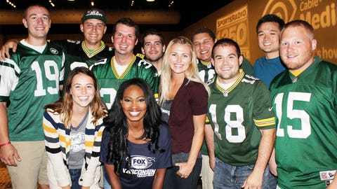 These football fans are ready for their draft and for the NFL season.