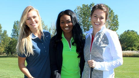 The FOX Sports Wisconsin Girls traded basketballs for golf balls and are ready to hit the green.