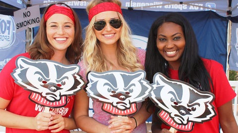 The FOX Sports Wisconsin Girls have their game faces on before the battle between Wisconsin & South Florida.